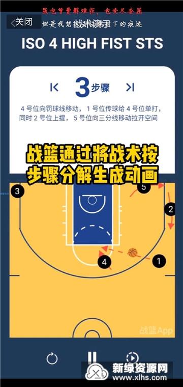 战篮篮球战术