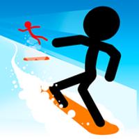 火柴人滑雪无限生命无敌版v1.7.0无限金币版